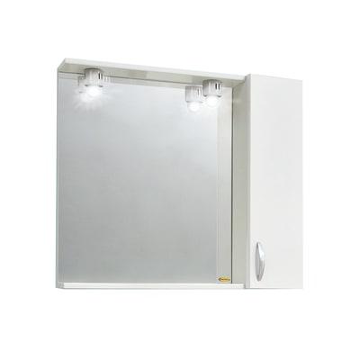 Armadietto a specchio Sole L 60 x H 57 x P  15 cm bianco lucido
