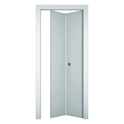 Porta da interno pieghevole Chamberì bianco 70 x H 210 cm dx