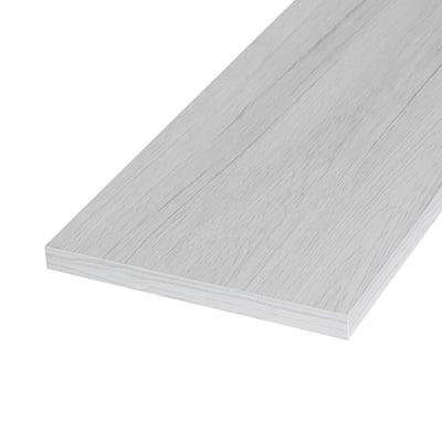 Pannello melaminico rovere bianco 18 x 200 x 1000 mm