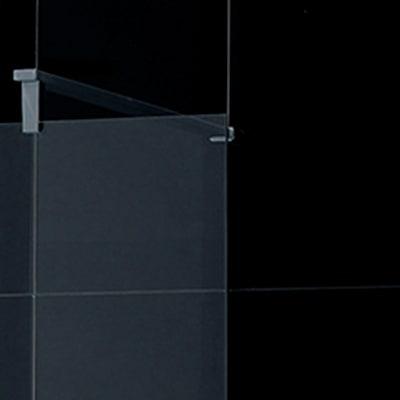 Doccia walk-in Open 90, H 195 cm cristallo 6 mm serigrafato/cromo
