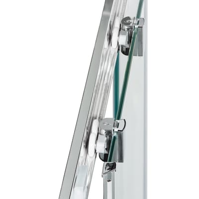 Box doccia scorrevole Dado 87.5-89 x 87,5-89, H 185 cm cristallo 5 mm stampato/silver