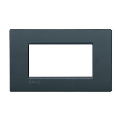 Placca 4 moduli BTicino Livinglight Air antracite
