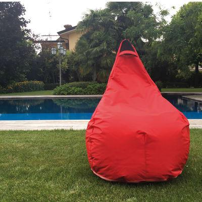 Cuscino pouf Pera idrorepellente rosso 100 x 70 cm