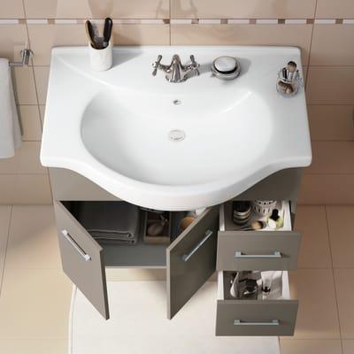 Mobile bagno Ginevra marrone L 81 cm