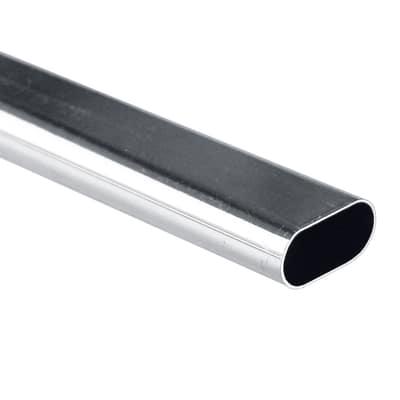 Tubo appendiabiti cromo L 200 cm