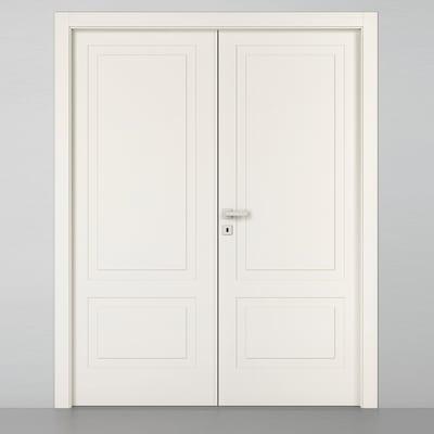 Porta da interno battente Shibuya 2 Ante Laccato Bianco 160 x H 210 cm dx