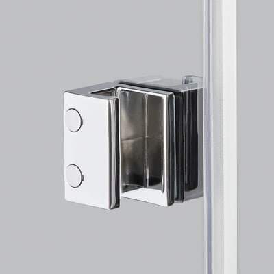 Doccia con porta pieghevole e lato fisso Neo 77 - 81 x 77 - 79 cm, H 201,7 cm vetro temperato 6 mm serigrafato/bianco opaco