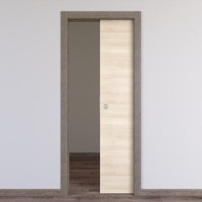 Porta da interno scorrevole Mixage grey grano 80 x H 210 cm reversibile