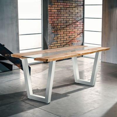 Coppia gambe per tavolo metallo l 70 x p 10 x h 75 cm for Leroy merlin gambe tavolo