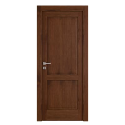 Porta da interno battente Canova rovere noce 80 x H 210 cm dx