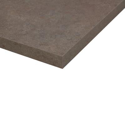 Piano cucina su misura laminato Porfido Sabbia marrone 6 cm