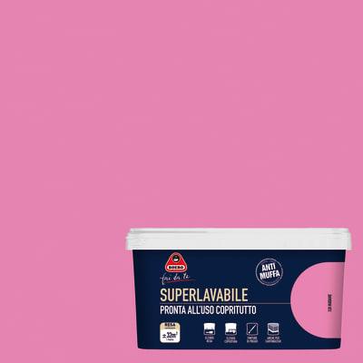 Idropittura superlavabile Antimuffa rosa madame 2,5 L Boero