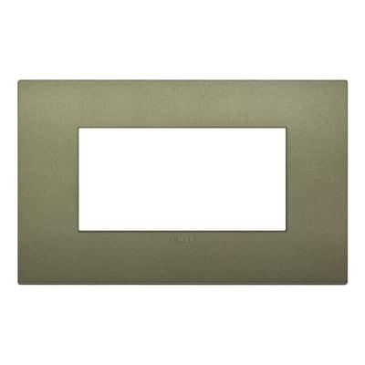 Placca 4 moduli Vimar Arké verde matt