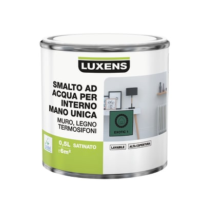 Smalto manounica Luxens all'acqua Verde Esotico 1 satinato 0.5 L