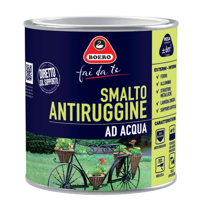 Smalto per ferro antiruggine arancione satinato 0,5 L