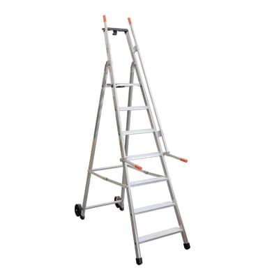 Scala doppia alluminio Facal 7 gradini, per lavori fino a 3,39 m