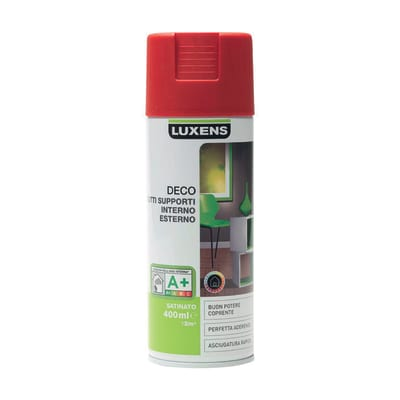Smalto spray Deco Luxens Rosso Rosso 3 satinato 400 ml