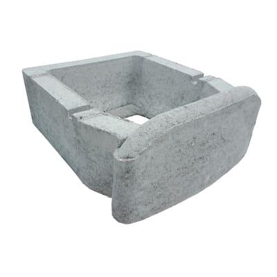 Bancale da 12 pezzi muretto Green grigio in cemento