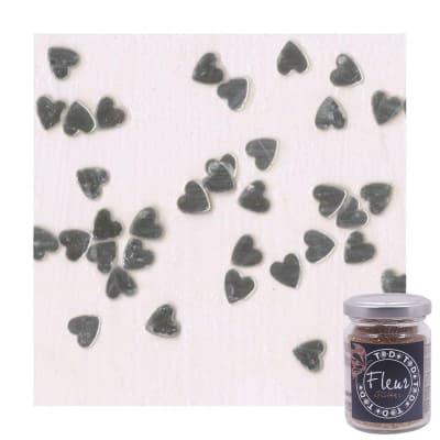 Glitter Cuori silver brillante 90 g