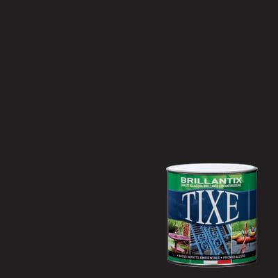 Smalto per ferro antiruggine Tixe Brillantix nero brillante 0,25 L