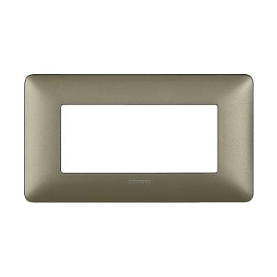 Placca 4 moduli BTicino Matix titanium