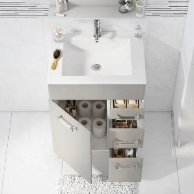 Mobile bagno Opale ecrù L 60 cm