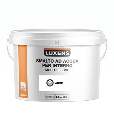 Smalto Luxens all'acqua Bianco brillante 2.5 L