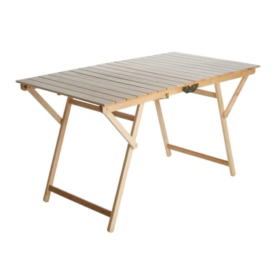 Tavolo pieghevole Super King, 136 x 70 cm naturale