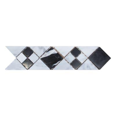Fascia Paris bianco, nero 7 x 28 cm
