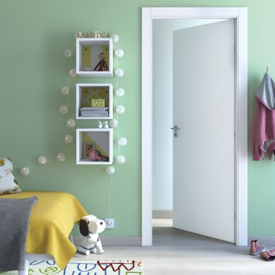 Porta da interno battente cream bianco 60 x h 200 cm reversibile prezzi e offerte online leroy - Porte interno leroy merlin ...