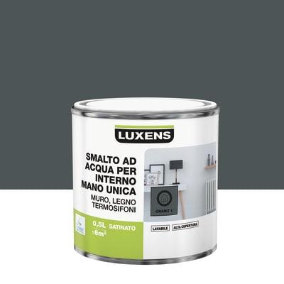 Smalto manounica Luxens all'acqua Grigio Granito 1 satinato 0.5 L