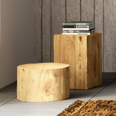 Tronco tondo legno Ø 30-40 x H 25 cm grezzo