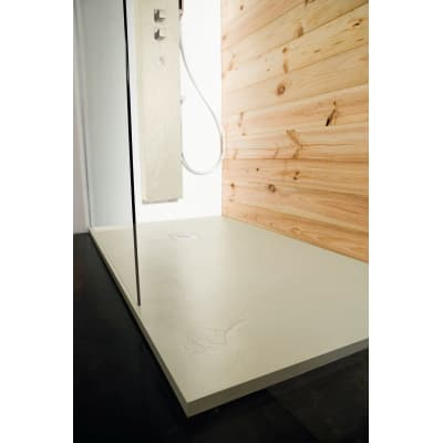 Piatto doccia resina Pizarra 100 x 180 cm grigio perla