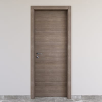 Porta da interno battente Stylish gris clair 90 x H 210 cm reversibile