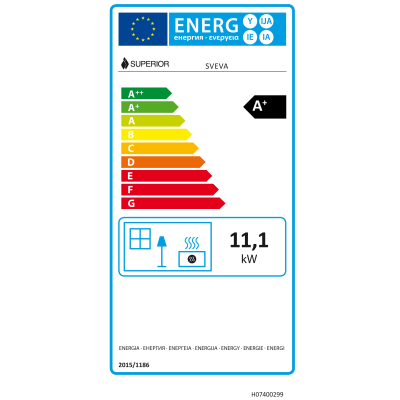 Stufa a Pellet Sveva 11,1 kW bordeaux
