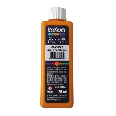 Colorante iperconcentrato ad acqua Bravo giallo cromo 20 ml