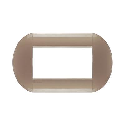 Placca 4 moduli BTicino Livinglight titanio