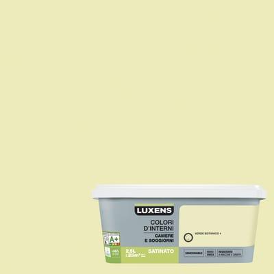 Idropittura superlavabile Smacchiabile Verde Botanico 4 - 2,5 L Luxens