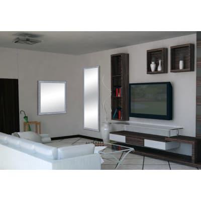 Specchio da parete rettangolare sibilla argento 60 x 60 cm - Specchio rettangolare da parete ...