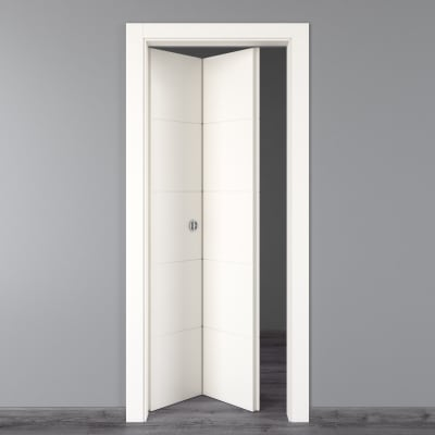 Porta da interno pieghevole Prado bianco 70 x H 210 cm sx