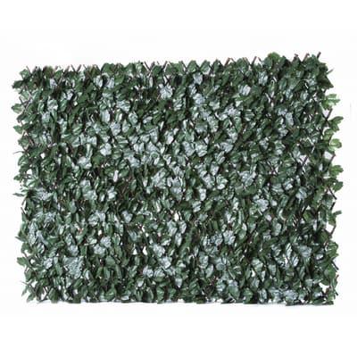 Siepe artificiale Traliccio Estensibile Ivy 100x200 cm L 2 x H 1 m