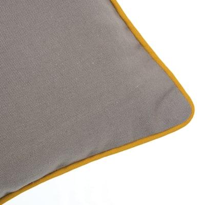 Cuscino Olmo tortora retro tinta unita 40 x 40 cm