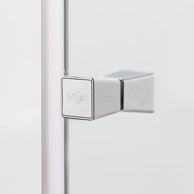 Doccia con porta battente e lato fisso Dado 77 - 80 x 77.5 - 79 cm, H 185 cm cristallo 5 mm serigrafato/silver