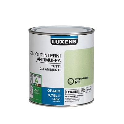 Idropittura lavabile Antimuffa Verde Verde 6 - 0,75 L Luxens
