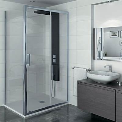 Porta doccia scorrevole manhattan 116 120 h 200 cm for Cabine doccia multifunzione leroy merlin