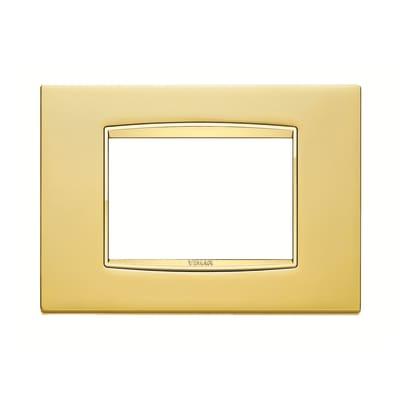 Placca 3 moduli Vimar Eikon oro satinato
