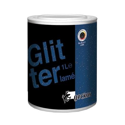 Pittura ad effetto decorativo Glitter Lamé Blu Blu 2 1 L