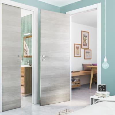 Porta da interno battente One ecru/white 90 x H 210 cm reversibile