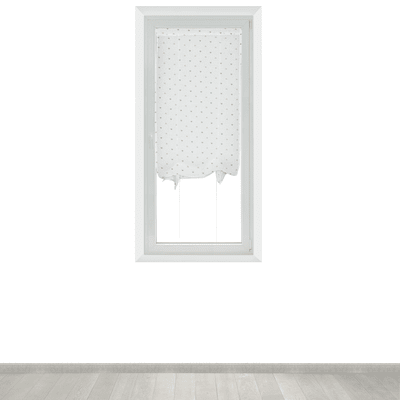 Tendina a vetro regolabile per finestra Andorra bianco e beige 60 x 150 cm