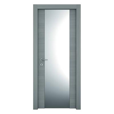 Porta da interno battente Resort Vetro Larice ghiaccio 70 x H 210 cm dx